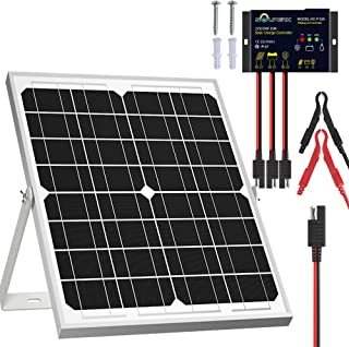 SOLPERK Solar Panel Kit 20W 12V, Solar Battery Trickle Charger Maintainer + Upgrade Waterproof Controller + Adjustable Mou...