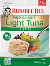 BUMBLE BEE Premium Light Tuna in Water, Ready to Eat Tuna Fish, High Protein Food, 2.5 Ounce Pouch (Pack of 12)