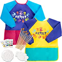 Kids Art Smocks and painting brush 22-pcs for kids includes