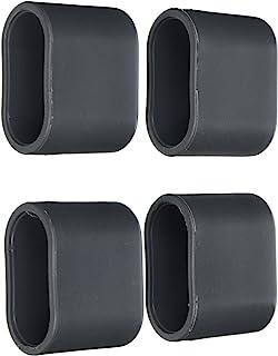 greemotion Tapa de Patas Juego de 4 Tapas, Antracita, 2.0x5.0x4.0 cm