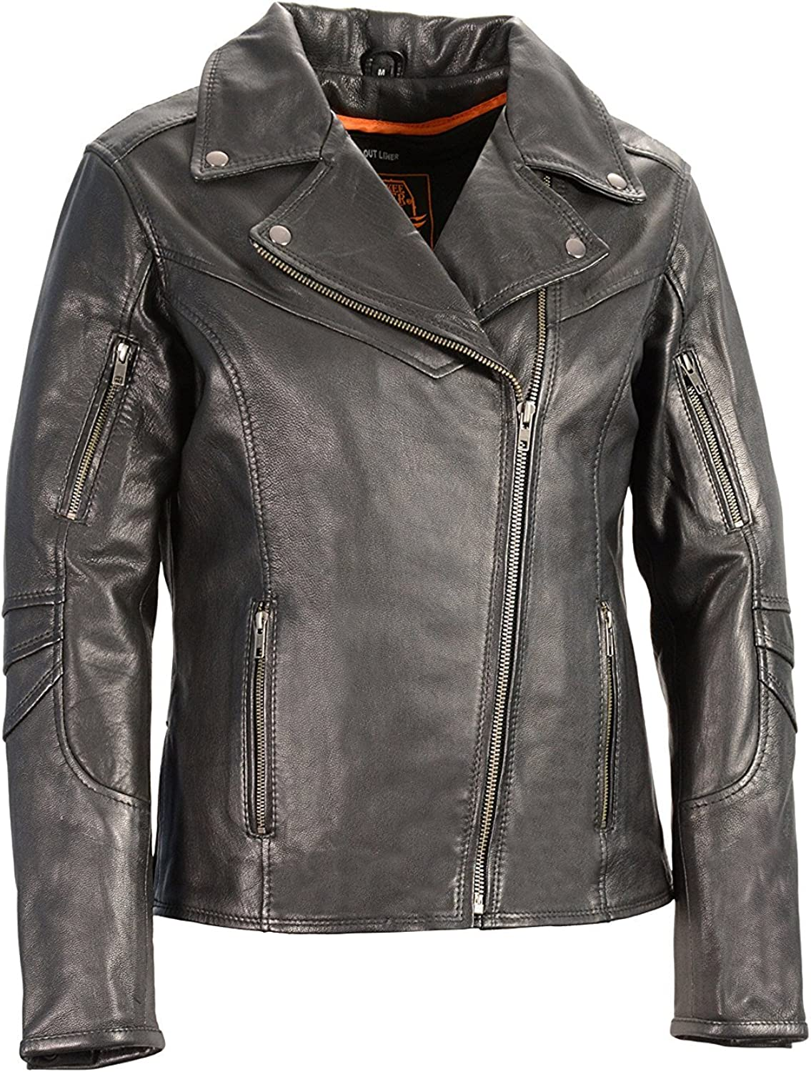 BABUBALA Stylish;pretty Leather Women's Vented Motorcycle Jacket (Black, XSmall)