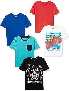 Amazon Brand - Spotted Zebra Boys' 5-Pack Short-Sleeve T-Shirts