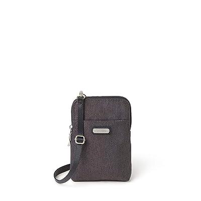 Baggallini New Classic Take Two RFID Bryant Crossbody (Charcoal Heritage) Handbags
