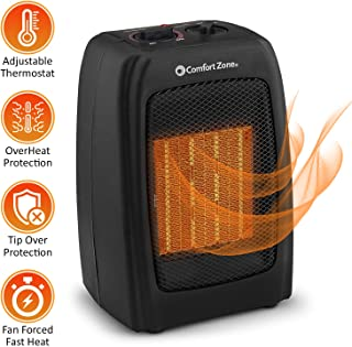 BOVADO USA Portable 166648 Ceramic Space Heater, Personal Warming Fan with Adjustable..