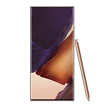 Samsung Electronics Galaxy Note 20 Ultra 5G Factory Unlocked Android Cell Phone, US Version, 128GB of Storage, Mobile Gaming Smartphone, Long-Lasting Battery, Mystic Bronze
