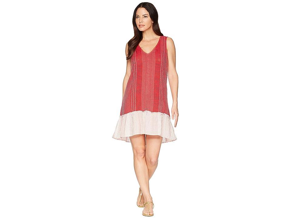 Lilla P Shift Dress (Red/White) Women