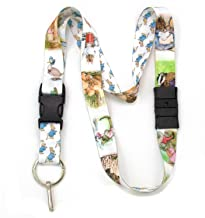 Buttonsmith Beatrix Potter Peter Rabbit Premium Breakaway Lanyard - Safety Breakaway, Buckle and Flat Ring - Made in USA