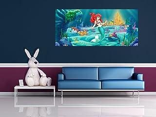 Disney Princess Ariel de Tela de Fotos de Pared 202 x 90 cm (79,5 x 88,9 cm)