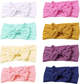 Prohouse Super Stretchy Knot Nylon Baby Headbands For Newborn Baby Girls Infant Toddlers Kids