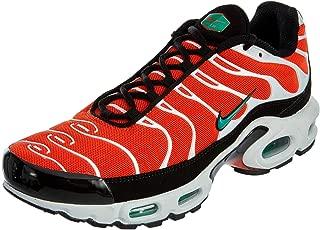 Men's Air Max Plus Team Orange/Neptune Green/White/Black Nylon Casual Shoes 8.5 (D) M US