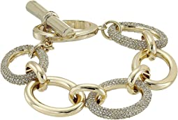 LAUREN Ralph Lauren - 7.5 Inches Large Oval Pave & Metal Links Bracelet