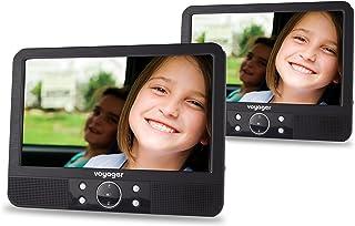 comprar comparacion Voyager VYDVD9-PM - Reproductor de DVD portátil con dos pantallas LCD de 9'', negro