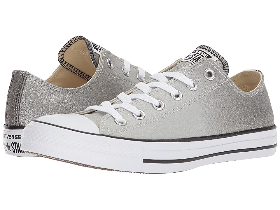 Converse Chuck Taylor(r) All Star Canvas Ombre Metallics Ox (Ash Grey/Black/White) Classic Shoes