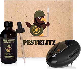 Pest Blitz Ultrasonic Pest Repeller Plug in and Peppermint Essential Oil Kit - Indoor Pest Repellant Device, Electronic Pest Defender, Eradicates Mosquitos, Spiders, Rats, Mice, Flea and More