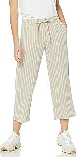 Women's Linen Blend Drawstring Crop Pant