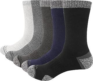 YUEDGEメンズ靴下 クッションクルー登山トレッキング靴下 男性用厚手 のサーマル ソックス サイズ 25-31cm 5ペア