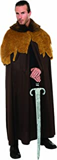 Costume Deluxe Medieval Warrior Cloak With Faux Fur Trim Costume