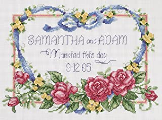 Janlynn 056-0193 Cross Stitch Kit, 8-Inch by 10-Inch, Married This Day