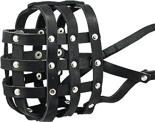 Genuine Leather Dog Basket Dog Muzzle #111 (Circumference 14.3