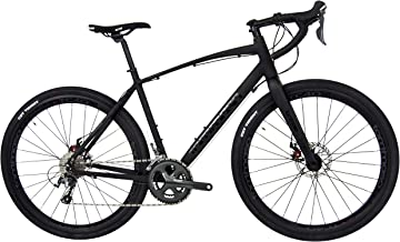 Tommaso Illimitate Shimano Tiagra Gravel Adventure Bike with Disc Brakes, Extra Wide Tires, and Carbon Fork, Perfect for Road Or Dirt Trail Touring, Matte Black