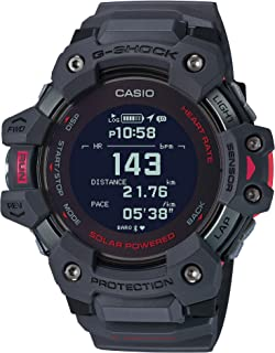 Casio Men`s G-Shock Move, GPS + Heart Rate Running Watch, Quartz Solar Assisted Watch with Resin Strap, Gray, (Model: GBD-H1000-8CR)