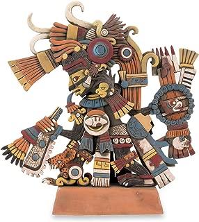 NOVICA Large Multicolor Archaeological Ceramic Sculpture 13.75