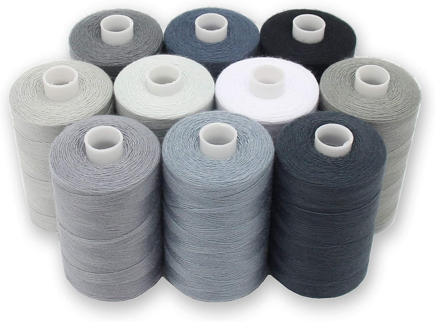 Sewing Thread Shades of Blue Assorted Lot of 22 Spools