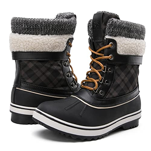 GLOBALWIN Womens Waterproof Winter Snow Boots