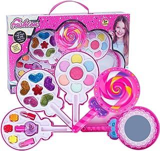 DAYONG Beautiful Kids Dream Portable Makeup Toys Set Dream Portable Makeup Toys For Kids (5 Layer Lollipop Shaped)