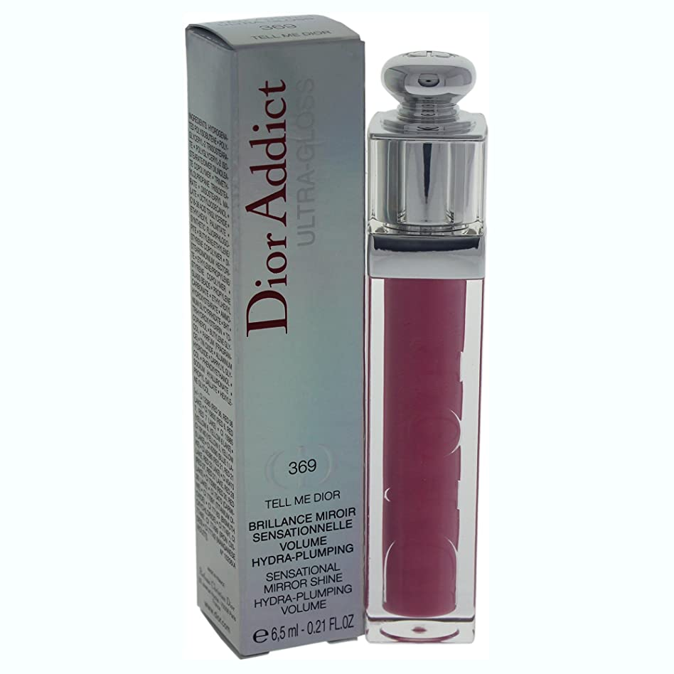 部屋を掃除するタイピスト部族ディオール ディオール アディクト グロス No. 369 Tell Me Dior