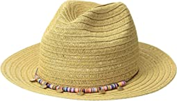 San Diego Hat Company - UBF1107 Fedora with Multicolor Trim & Gold Coins