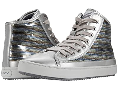 Geox Kids Kalispera 40 (Big Kid) (Dark Silver) Girl