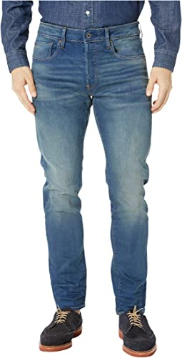 3301 Slim in Firro Stretch Denim Medium Aged