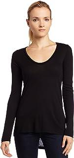 Splendid Women's Light Jersey Long Sleeve Scoop Neck Tee