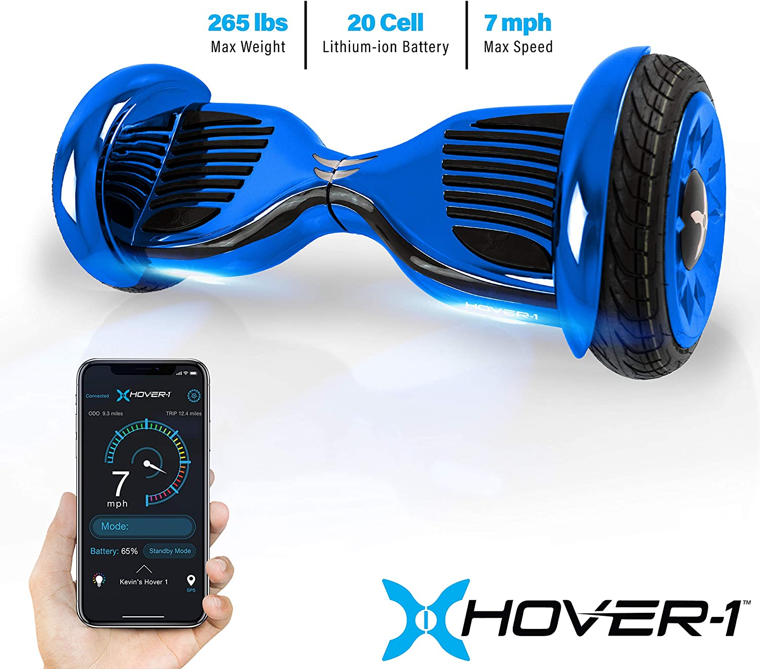 Hover-1 Titan Electric Self-Balancing Hoverboard Scooter with 10 Tires
