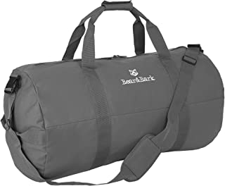 """Medium Duffle Bag – Gray 32""""x18"""" - Canvas Military and Army Cargo Style Duffel Tote for Men and Women– Gym, Hiking and Storage Shoulder Bag"""