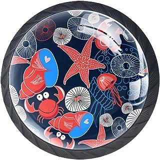 Boutons de tiroir Poignées d'armoire rondes Pull pour bureau à domicile cuisine commode armoire décorer,Graphiques marins ...