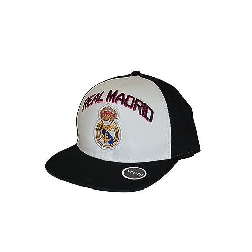 4afcfb788c5 Real Madrid Fc Club Snapback Youth Kids Adjustable CAP Hat - White-black  NEW Season