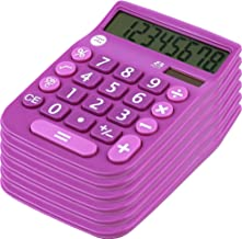 $23 » Office + Style 8 Digit Dual Powered Calculator with Large LCD Display, Lavender (Pack of 6)