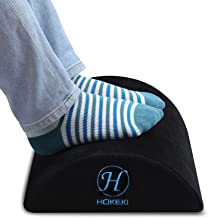 HOKEKI Foot Rest Under Desk, Soft Yet Firm Foam Foot Cushion Under Desk Foot Stool Pillow for Office and Home Accessories,...