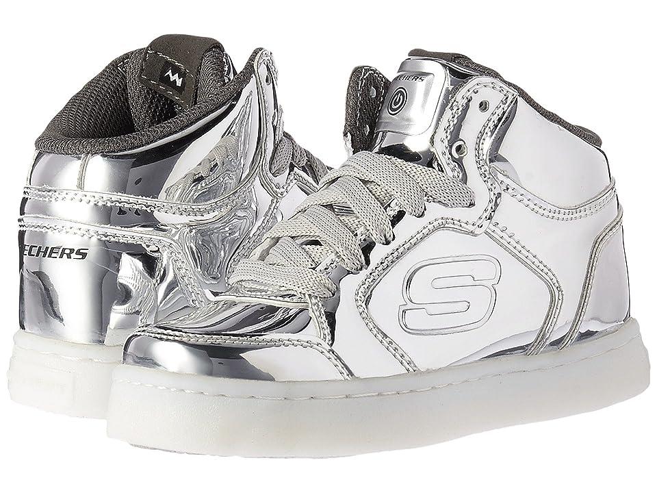 SKECHERS KIDS Energy Lights 90600L (Little Kid/Big Kid) (Silver) Kids Shoes
