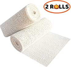 Plaster Cloth Gauze Premium for Hobby Crafts Scenery Molds Mask Art Belly Casting - Plaster Bandages Strips Wrap Cast Material Tape White - Extra Fast Setting - 6 inches x 10 feet (2 Rolls)