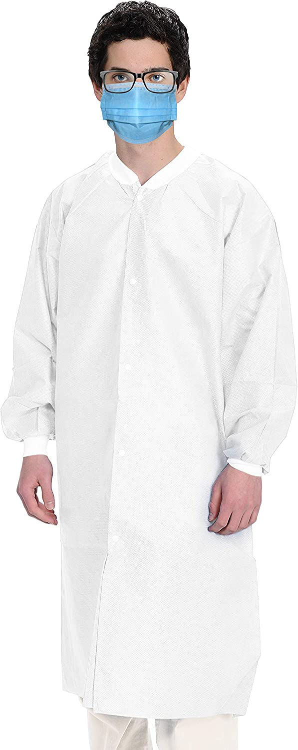 AMZ White Disposable 67% OFF of fixed price Gowns. Pack 10 Portland Mall 3X-Large Lab Microporous