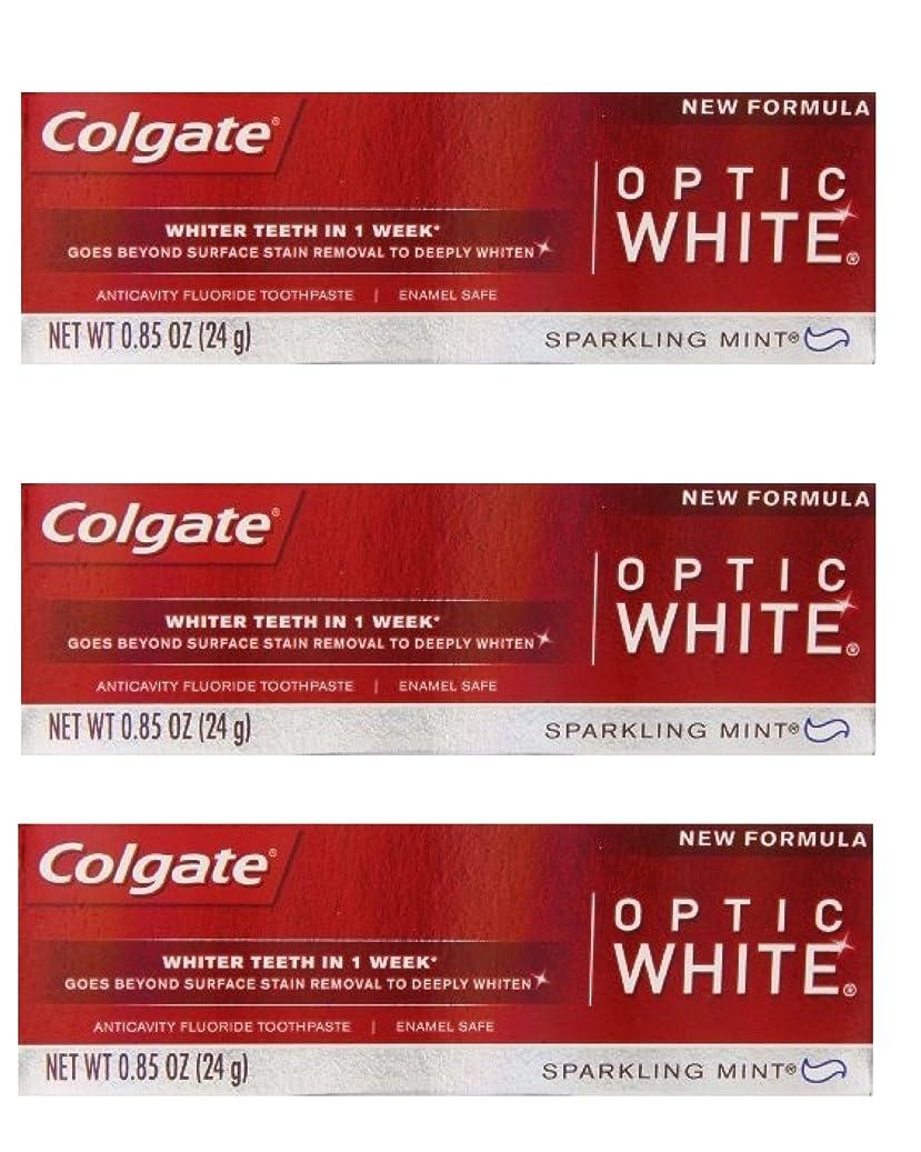 季節出くわすアシュリータファーマンColgate Optic White Toothpaste Sparkling Mint 0.85 Oz Travel Size (Pack of 3) by Optic