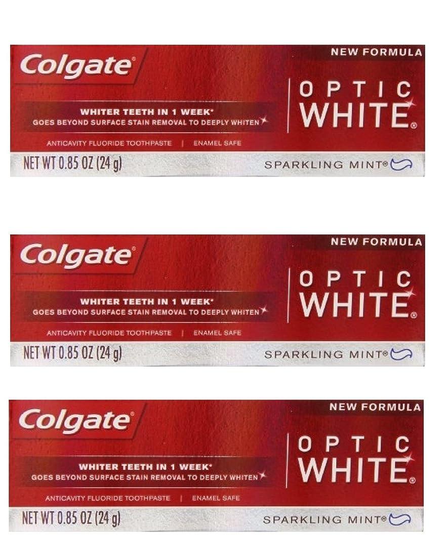 露出度の高い矢手首Colgate Optic White Toothpaste Sparkling Mint 0.85 Oz Travel Size (Pack of 3) by Optic