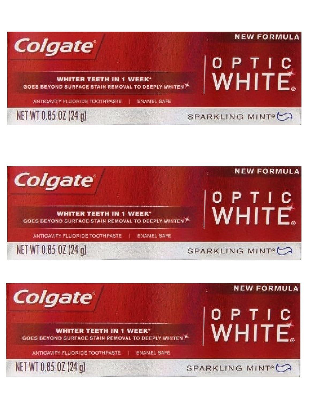 ラベスキャンダルを通してColgate Optic White Toothpaste Sparkling Mint 0.85 Oz Travel Size (Pack of 3) by Optic