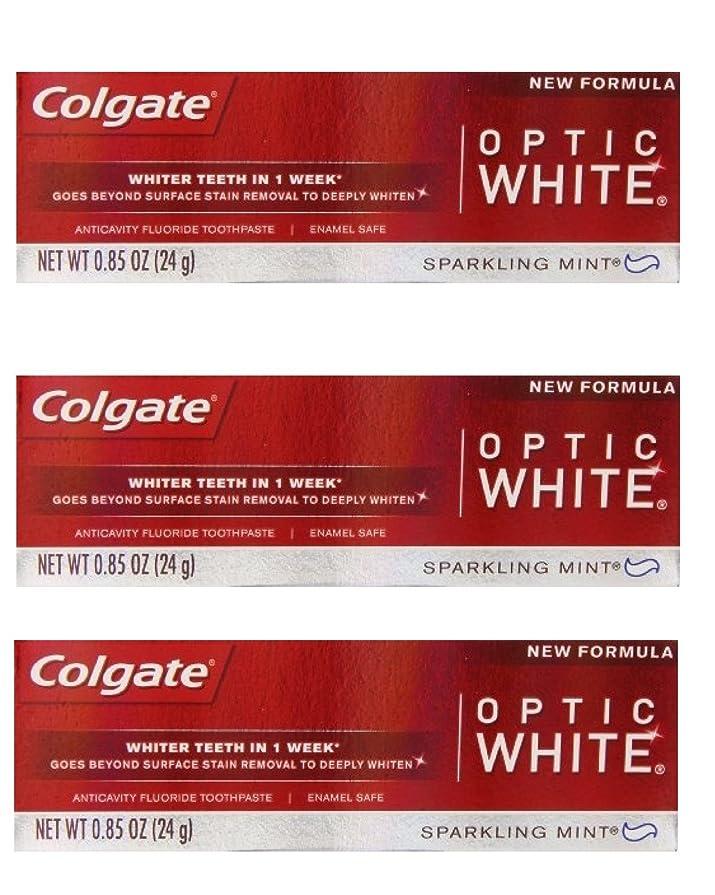 繁殖あからさま追加するColgate Optic White Toothpaste Sparkling Mint 0.85 Oz Travel Size (Pack of 3) by Optic