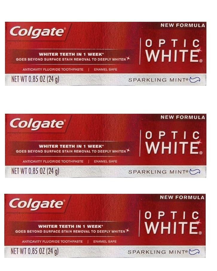 抑圧する野心的シンプルなColgate Optic White Toothpaste Sparkling Mint 0.85 Oz Travel Size (Pack of 3) by Optic