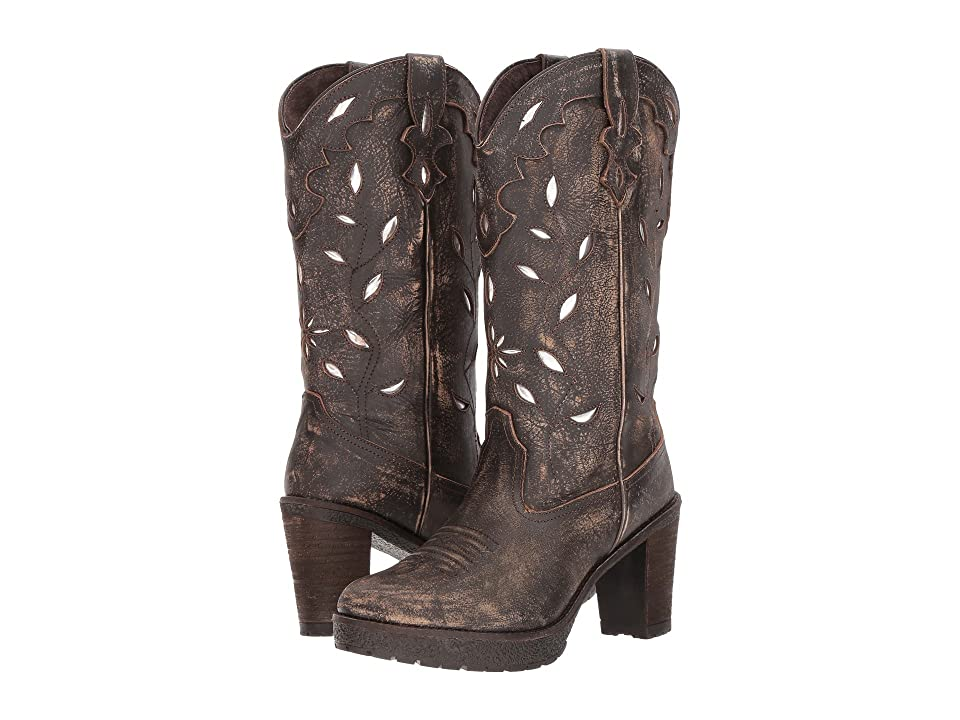 Roper Rocker (Distressed Brown Leather Vamp) Cowboy Boots