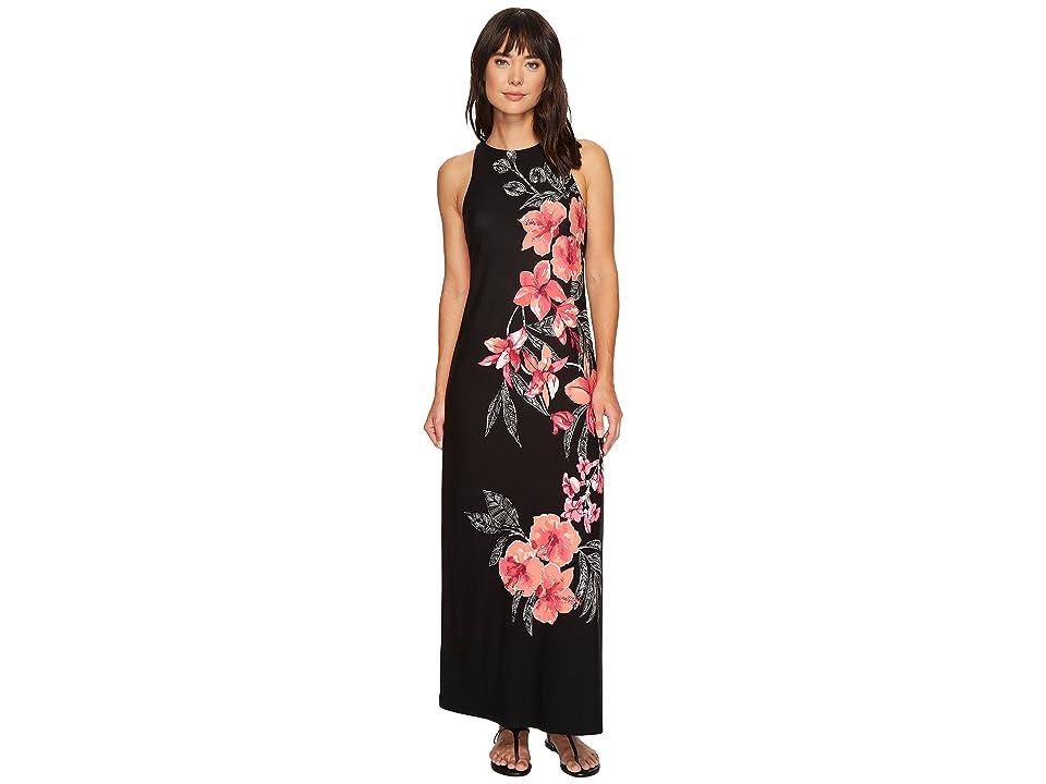 Tommy Bahama Bedoin Blossoms Maxi Dress (Black) Women